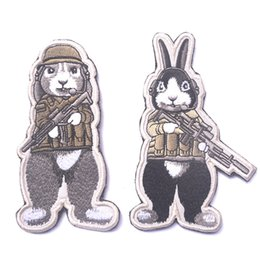Wholesale 12 Chinese Zodiac Private Dog Jailbreak Rabbit Tactical Patch Embroidered Badge Army D Military Fabric Cloth Armband Flag Badge free ship