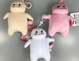 Wholesale New Lovely Colors quot Ji Bang Plush Doll Keychains PVC Clip Bag Ornament Pink White Yellow Kid s Toys