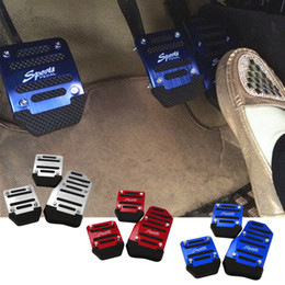 Wholesale Car pedal modified metal Aluminum Alloy universal antiskid braking clutch pedal pad