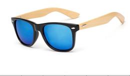 Wholesale Ralferty Retro Bamboo Wood Sunglasses Men Women Designer Sport Goggles Gold Mirror Sun Glasses Shades lunette oculo