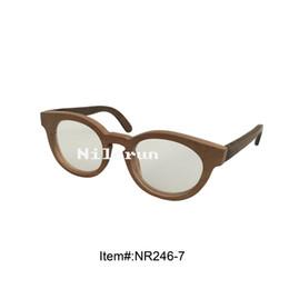 unisex round wooden optical eyeglasses