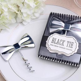 "Fast Delivery Factory Directly Sale Wedding Favor Gifts ""black Tie"" Wine Bottle Opener Creative Gifts Wholesale"