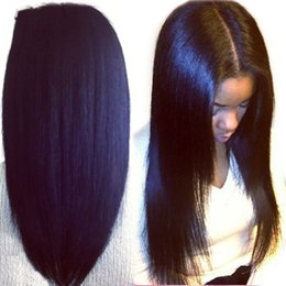 Promotion pleine perruque de dentelle hommes Longueur d'onde tresse mes cheveux perruques pour les femmes noires, les cheveux de la meilleure femme européenne de l'homme 100% est pleine perruque de dentelle 5.5 * 5.5 de mes chaussures et perruque bébé