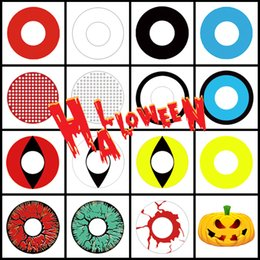Free Shipping Large Stock Halloween Contact Lenses White Out Contacts White Mesh Crazy lens for Cosplay and Halloween