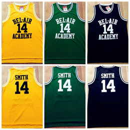 Wholesale Fresh Prince Jersey Will Smith Basketball Jersey The Fresh Prince of Bel Air Academy Yellow Green Black Basketball Jerseys All Stitche