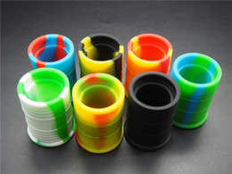 100pcs High Quality Nonstick Silicone Container Jars Dab Silicone Wax Container 9 Ml Silicone Oil Container