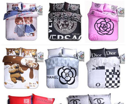 Wholesale Hot sale Home textiles New Designer D Printing Duvet cover Bed sheet Pillowcase bedding set queen size