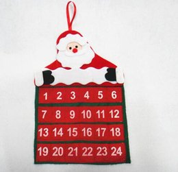 Wholesale Christmas Decorations Calendar Advent Fabric Countdown X40CM Santa Claus Ornaments for Christmas Party Supplies for Home Xmas Gift