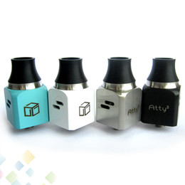 Clone ATTY3 WOTOFO ATTY 3 Rebuildable Dripping Atomizer Vaporizer Adjustable Airflow ATTY³ RDA with Wide Bore Drip Tips DHL Free