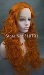 Perruques cheveux synthétiques LACE FRONT Full Curls perruque orange Livraison gratuite perruque hairnet orange crête perruque hommes full lace wig men for sale à partir de pleine perruque de dentelle hommes fournisseurs