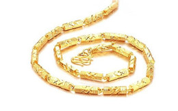 Fast Free Shipping Fine 24k gold filled necklace chain factory direct length:51cm weight:46g men chains