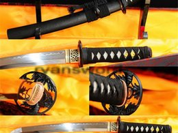 Wholesale Authentic Fully Hand Forged Clay Temper Bamboo Pattern Japanese Samurai Tanto Swords
