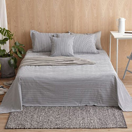 Wholesale Bedding article single piece Sheet mattress cover Bedspread Coarse Cloth hand woven cotton stripe simple style