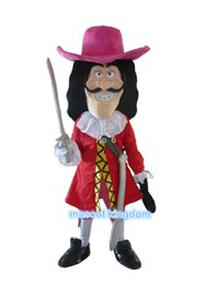 Wholesale 2016 New Vikings Pirate Captain Hook Mascot Costume Fancy Dress Adult Free Ship
