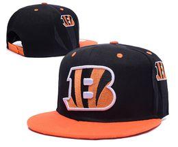 Wholesale best quality Cincinnati Snapback Bengals Adjustable Football Snap Back Hats Black Hip Hop Snapbacks High Quality Players Sports