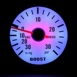Wholesale Brand New mm Car Auto Motor PSI Vacuum Boost Pointer Gauge Meter Counter Blue Light