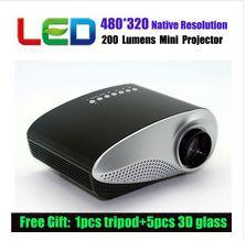 Wholesale Best Price Newest Home Theater Lumens USB D black white LCD Mini P LED Wifi Wireless Video Portable Projector FULL HD