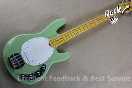 Hombre de raya de música en Línea-Venta al por mayor- China Guitars Factory Custom Guitarra Bajo 4 cuerdas Music hombre Erime Ball StingRay Left Handed Disponible