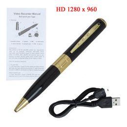 Wholesale HD Mini Spy pen Camera Video hidden Pen camera with Camcorder avi DVR Micro SD Card slot hot selling Hidden camera