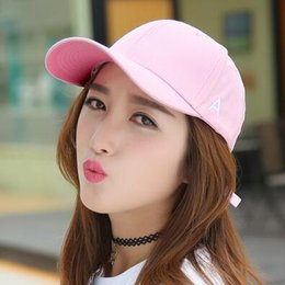 Small fish embroidered baseball hat couple duck tongue shade male and female hip hop hat spring and summer retro pink