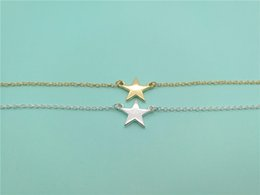 10PCS Simple Rock Star Bracelets Tiny Small Five-pointed Star Bracelet Cute Sideways Bracelets for Women Jewellery