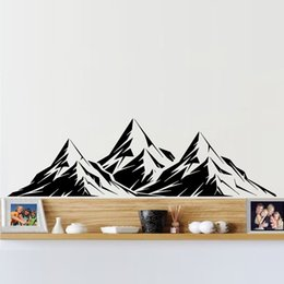 2017 Hot Sale Cool Graphics Vinyl Wall Decal Mountains Room Decoration Bedroom Living Room Art Stickers DIY