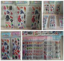 Wholesale 3D Sticker Trolls Poppy Cartoon Pattern Children School Reward Wall Desk Stickers Scrapbook Children Toys Stickers kids Best Gift