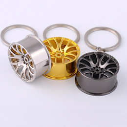 Wholesale Manufacturer of spot car modification hub metal key chain turbocharged metal keychains