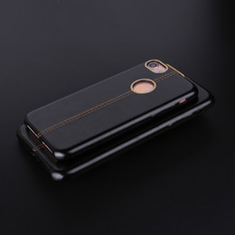 PU Leather Genuine Gold Ring Hard Phone Case Cover Coque Fundas For iPhone 6 6S 6Plus 7 7 plus