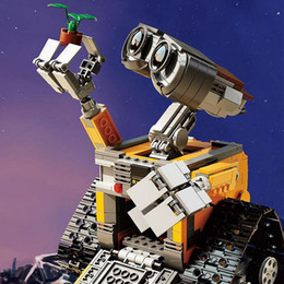 201616003 Idea Robot WALL E Blocs de construction Minifigures Bricks Blocks Jouets pour enfants WALL-E Birthday Gifts e gifts deals à partir de e cadeaux fournisseurs