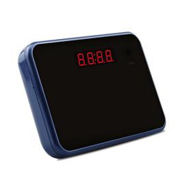 Wholesale Wifi Hidden Camera Alarm Clock Wireless Spy Cameras Motion Detection Alarm Audio Video Recorder Micro SD Card GB Included Blue