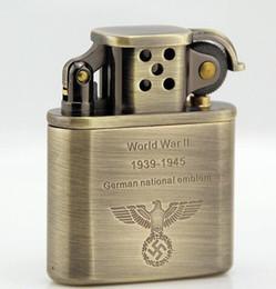 Wholesale Zorro bronze prince type restoring ancient ways eagle fine copper shell kerosene lighter German world war ii