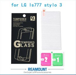 Wholesale Premium 2.5D Matte Frosted Anti-Fingerprint Glare Tempered Glass Film Screen Protector for LG stylo 3