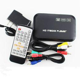 Descuento el jugador del sd para la televisión Venta al por mayor-2015 el mini HD completo HD1080p H.264 MKV HDD HDMI Media Center del jugador del USB OTG SD AV TV AVI RMVB RM HD601