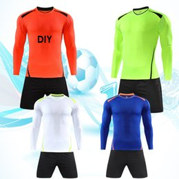 Welcome order! Football training suits, sportswear, sportswear, long sleeves, DIY training teams can process names and numbers and LOGO. Fre