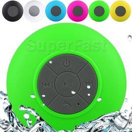 Waterproof Speaker Wireless Shower Handsfree Bluetooth Speakers Car Waterproof Portable mini MP3 Super Bass Receive Call & Music In BOX