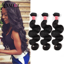 Wholesale Cheap Indian Brazilian Peruvian Hair - 7A Peruvian Brazilian Malaysian Indian Cambodian Virgin Hair Body Wave Cheap Human Hair Weave Wavy Bundles Natural Black Remy Hair Extension