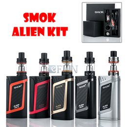 Wholesale 100 Authentic SMOK Alien Starter Kit With ML TFV8 Baby Tank W ALIEN W MOD ohm ohm V8 Baby Core VW TC Function Top Fill System