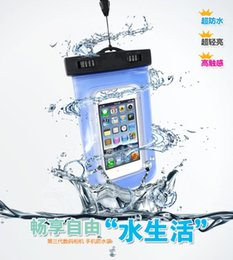 Wholesale Touch Screen Waterproof Neck Pouch PVC Universal Clear Waterproof Pouch Diving Bag For iPhone Plus S Samsung Galaxy S7 edge