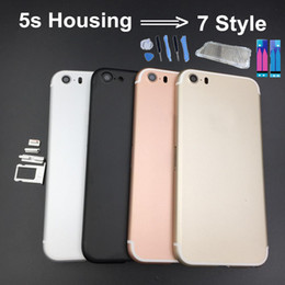 Wholesale Colorful Back Cover Housing For iPhone s Like Aluminum Metal Back Battery Door Cover Replacement to iPhone style