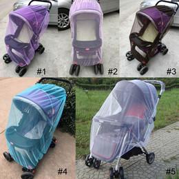 Promotion poussette bébé insecte 150cm été Poussette bébé Poussette Moustiquaire Insect Shield Safe Infants Protection Accessoires pour poussette en maille