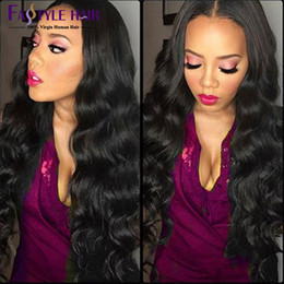 Wholesale 7A Cheap Peruvian virgin Human Hair Body Wave PC Thick Hair Extensions Curly WeaveWavy Human Hair Weft Natural Color Fast