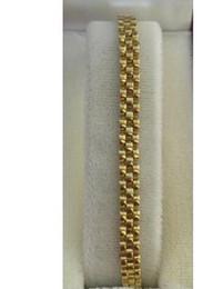 Bracelet en or jaune 14k orné de 10,87 grammes 7,25 pouces à partir de pré en propriété fabricateur