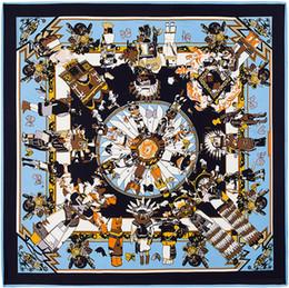 Wholesale cm cm Twill Silk Euro Brand French design with high end custom models myth Hopi dolls silk twill large square scarf B120