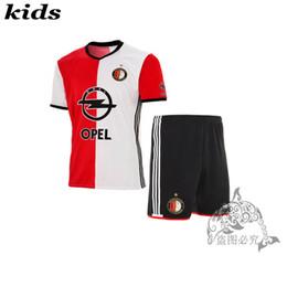 Wholesale in stock Eredivisie Kids shirts camisetas Feyenoord home kids football shirts pants kits Feyenoordes away Kids Soccer Jersey