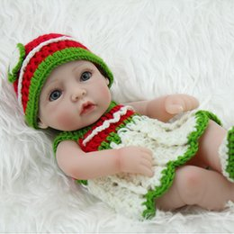 28cm Reborn Baby Doll Realistic Soft Full Silicone Vinyl Newborn Baby Girl Child Kids Birthday Toy Gift