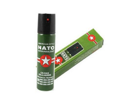 Wholesale 2017 Hot Sell NEW NATO CS GAS ML TEAR GAS PEPPER SPRAY sex maniac Men Women Security self defense Tool Best Price