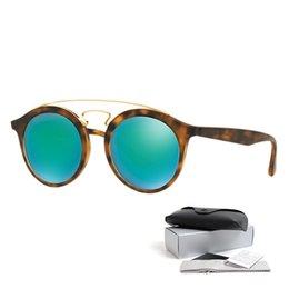 2017 espejo de cristal clásico Classic Marcas Diseñadores Retro Club Gafas de sol Steampunk Tortoise Gold Frame Gafas de sol para hombre Mujer Gafas de sol Lentes de Sol espejo de cristal clásico Rebaja