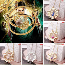 Wholesale HP Harry Potter sand glass necklace time Turner hourglass necklace Horcrux Time Turner pendant necklaces movie jewelry