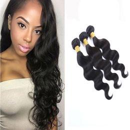 Cheap Brazilian Virgin Hair Body Wave 50g pc Unprocessed Brazilian Human Hair Weave Bundles Brazilian Body Wave Hair Can be dyed